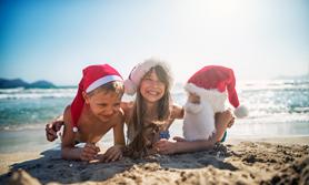 Weihnachten Familie Strand