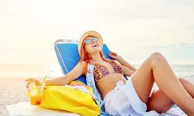Singleferien Frau am Strand